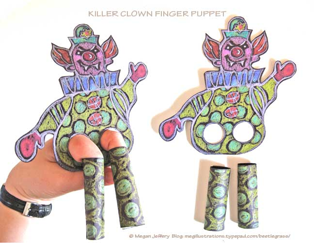 Killer-clown-finger-puppet